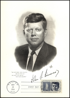 John F Kennedy First Day Of Issue Boston May 29 1964 Envelope And Stamp NEW